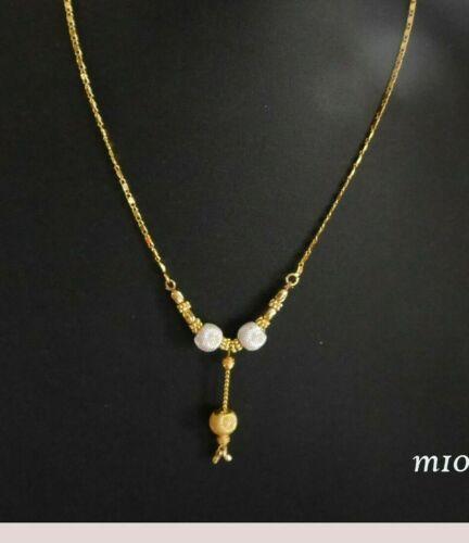 22k Collar Chapado en Oro Indio conjuntos de Collar Gargantilla Cadena Moda Joyería U03