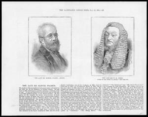 1881-Antique-Print-PEOPLE-SAMUEL-PALMER-Artist-Sir-WILLIAM-JAMES-Judge-97