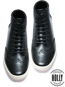 New-Men-039-s-Casual-Sneaker-High-Top-Leather-Boot-Shoes-Style-Holly-Shoes-STR046