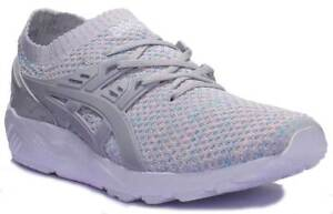 Men Knit 12 Synthetic Size Gel Trainers Asics Glacier 6 Kayano White Grey P4XYwIq