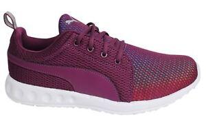 Puma-Carson-Prism-Lace-Up-Womens-Magenta-Textile-Trainers-189023-01-D134