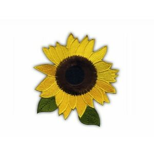 Sunflower-with-leaves-LS-Embroidered-PATCH-BADGE