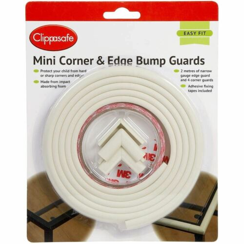 Clippasafe MINI CORNER /& EDGE BUMP GUARDS Baby Child Safety BN