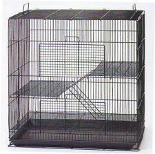 Small Animal Cage for Chinchilla Ferret Sugar Glider - 701 Black