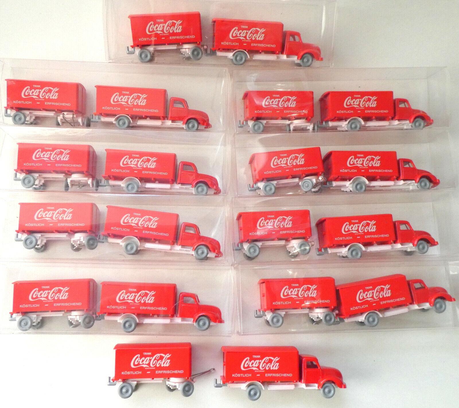 Coca Cola    IMU Wiking Replika 1 87   HO     10 x Magirus LKW m. Hänger  4813 P
