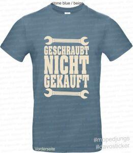 T-Shirt-geschraubt-nicht-gekauft-Simson-MZ-Oldtimer-Trabant-Wartburg-Vespa-BMW