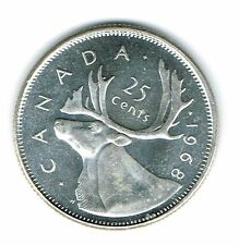 1968 Canadian Brilliant Uncirculated Business Strike Silver 25 Cent coin!