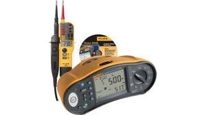 Fluke-1664-DE-TPL-KIT-Installationstester-SET-VDE0100-mit-Software-und-T150
