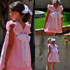Sweet Toddler Kids Girls Princess Bowknot Summer Casual Dress Sundress 2-8Years