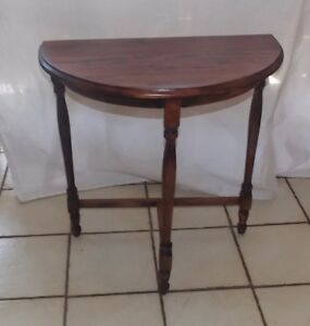 Image Is Loading Cherry Demilune Entry Table Side Table T396