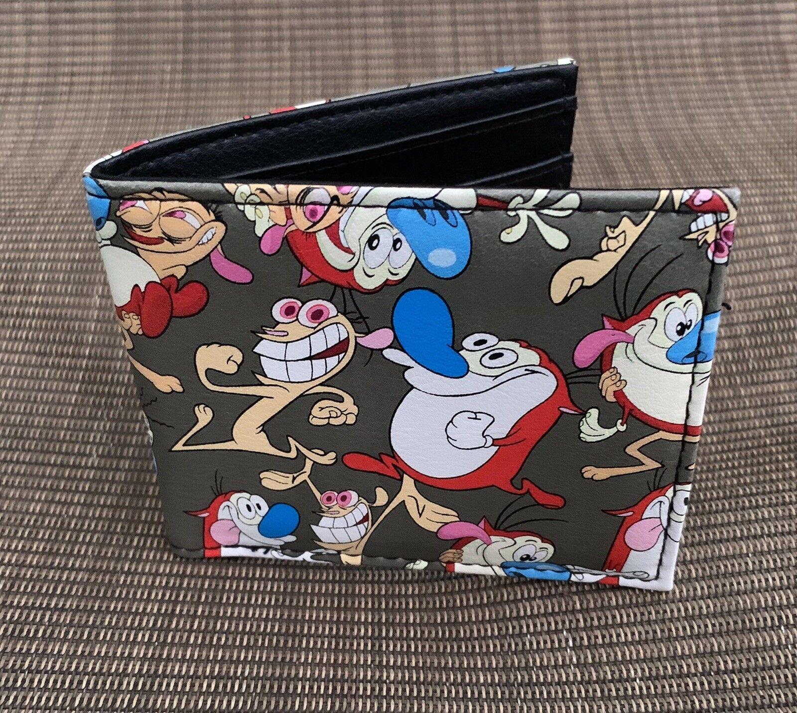 Ren And Stimpy Bi-Fold Wallet Nickelodeon NEW