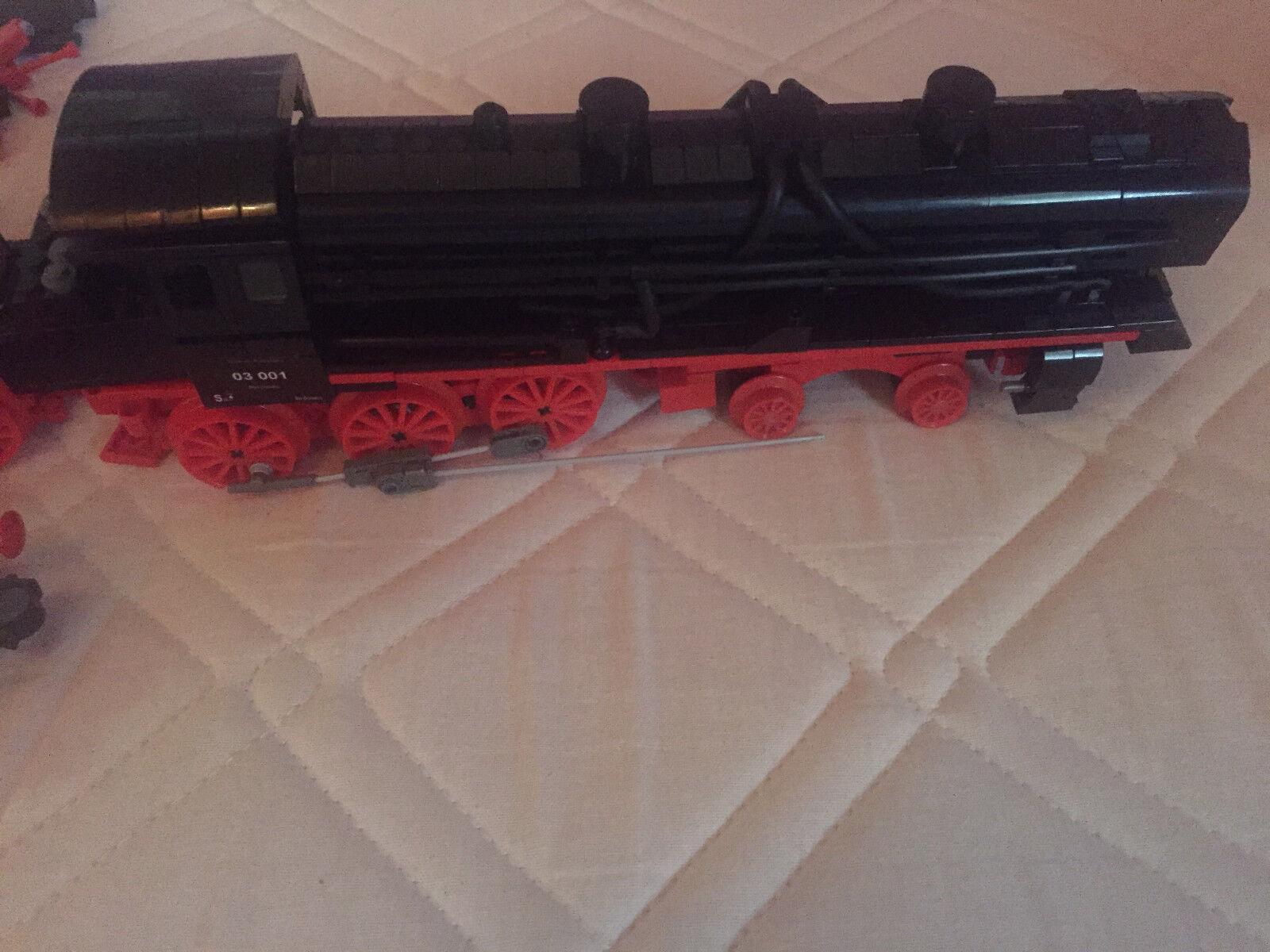 Lego Eisenbahn 9 Volt, große Dampflok mit Tender mit Beleuchtungen