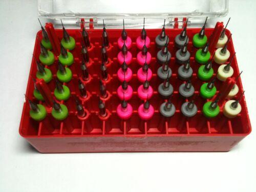 "1//8/"" shank 1.2mm Pcb Cnc Press Dremel Bits 50 Micro Drills Set 0.4mm New"
