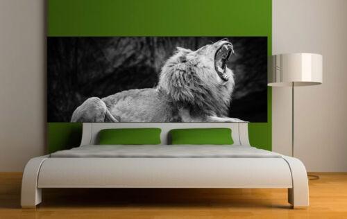 Sticker tête de lit décoration murale Lion réf 3661 5 dimensions