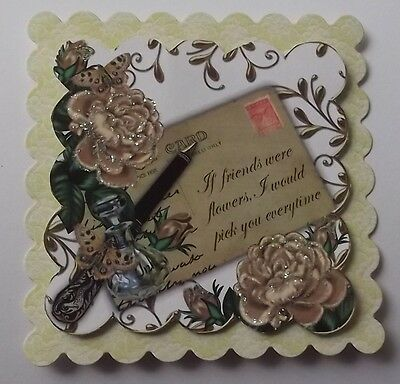 PK 2  BASKET MIXED FLOWERS HAPPY BIRTHDAY EMBELLISHMENTS FOR CARDS /& CRAFTS
