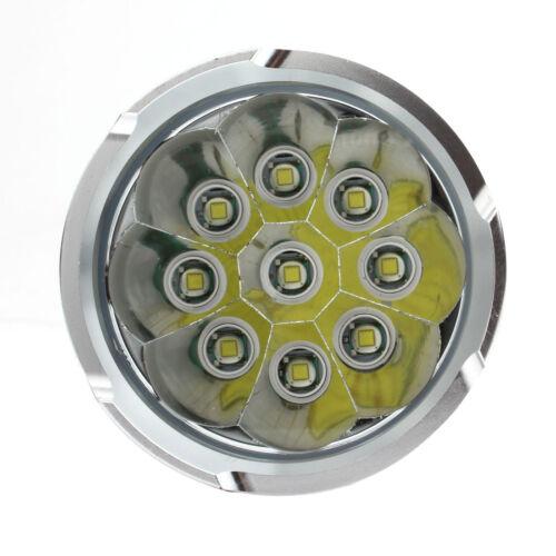 Black//Gold 12 x CREE XM-L T6 LED  32000LM Torch 4 x 18650 Lamp Flashlight