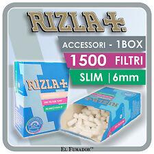 1500 FILTRI RIZLA SLIM 6mm - 1 BOX 10 SCATOLE da 150 PEZZI PER ROLLARE SIGARETTE