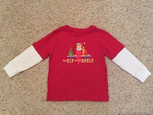 THE ELF ON THE SHELF GLITTER LONG SLEEVE SHIRT SIZE 3T NEW