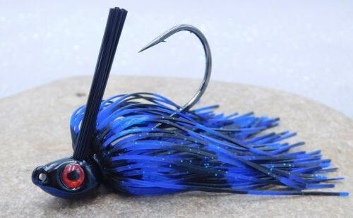 Super Stroke Swim Jig Black Blue 3//8 LI126
