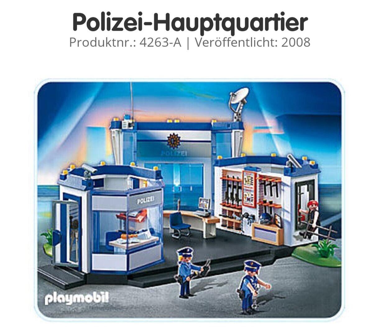 Playmobil Polizeistation + Räuberauto + Polizeiauto + Flugzeug ( Nicht Auf Foto)