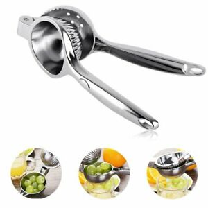 Lemon Squeezer with Handgrip and Filter Whole,Stainless Steel Manual Lemon Squeezers Premium Quality Lime Lemon Squeezer Press Juicer