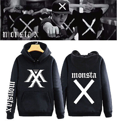 KPOP MONSTA X Cap Hoodie Sweater THE CLAN PART.1 LOST Coat Unisex Sweatershirt