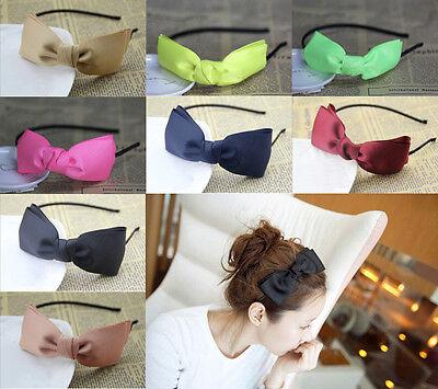 Girl Fashion Bowknot Sweet Ribbon Hair Band Headband Cute bow Tie