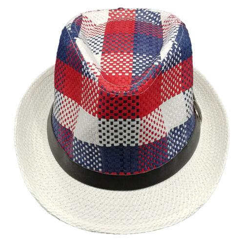 Modern American Flag Colors Fashion FEDORA HAT w//Retro Originals Novelty Trilby