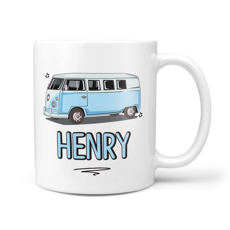 Personalised Mug VW Campervan  ADD NAME #WALES 1 VW