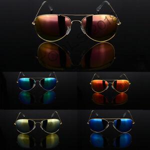 Retro Pilot Polarized Sunglasses Fashion Womens Classic Outdoor Mirrored Glass