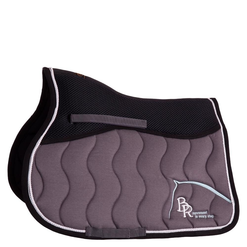 Saddle pad BR Passion Mona Bag. Twill vs. dark Grau
