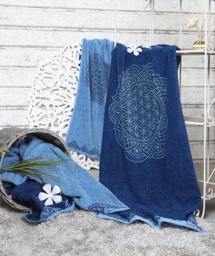 Handtuch ozean blau azur Happy Flower verschiedene Größen The Spirti of OM