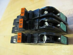 15 Amp  Federal Pacific Circuit Breaker Thin Type NC NI  In Great Condition