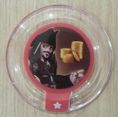 Rare Series 1 Disney Infinity Power Disc #4 Pieces of Eight (Jack Sparrow)