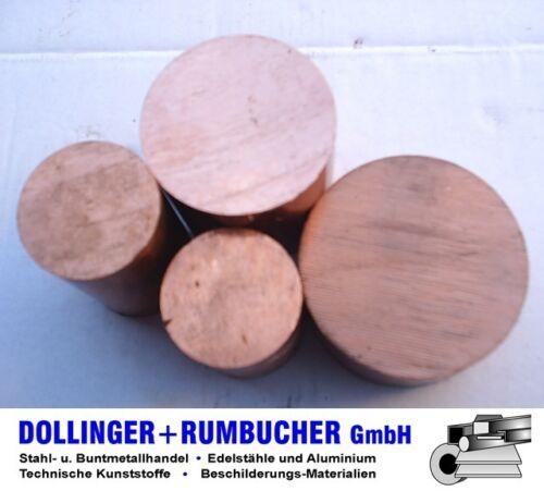 Kupfer Rund Rundstange Cu-ETP Ø 16 mm **Länge bitte auswählen**