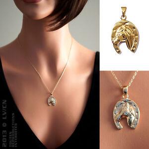 Pendentif femme fer cheval porte bonheur en plaqu or 18ct neuf beaux bijoux ebay - Bijoux porte bonheur pour femme ...