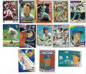 ROBIN-YOUNT-MILWAUKEE-BREWERS-LOT-OF-13-DIFFERENT-CARDS