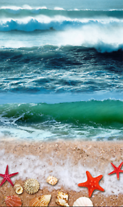 3D Wellen Starfish 561 Fototapeten Wandbild Fototapete Tapete Familie DE Lemon