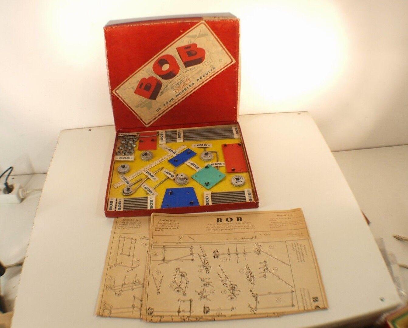BOB Chambéry boîte n° B1 jamais joué jeu construction remorque rare années 40