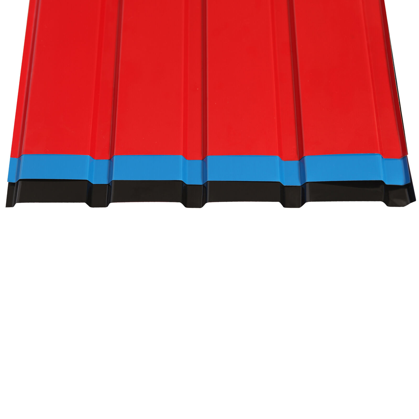 12 × Corrugated Roof Sheets Profile Galvanized Metal Roofing Carport 3 Colours
