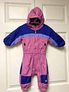 06f10cf58 Columbia Tectonite Snowsuit Baby Girl Sz 18 M Months Fleece Lined ...