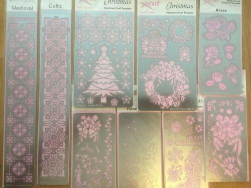 Navidad Xcut STITCH /& Craft//pergamino Craft Diseñador plantilla Bundle-fronteras