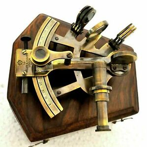 Vintage Maritime Nautical Navy Brass Sextant Working Collectible Sextant .