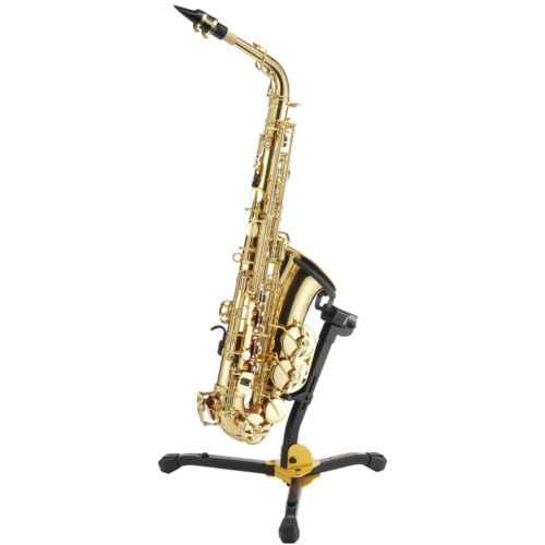 Hercules DS630BB Auto Grip System Alto//Tenor Saxophone Folding Stand with Bag
