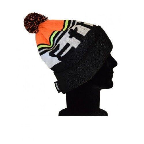 CAP WOOL black orange POM POM ETHEN SCALP06