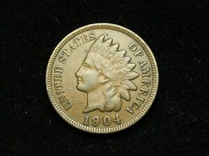 SUMMER-SALE-XF-1904-INDIAN-HEAD-CENT-PENNY-w-DIAMONDS-amp-FULL-LIBERTY-51x