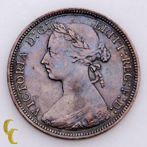 1886-Great-Britain-1-2-Half-Penny-Bronze-KM-754-Very-Fine-VF-Condition