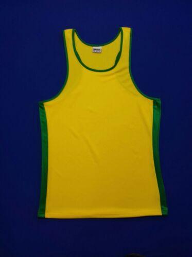 FOOTEX Canotta Beach Volley Giallo/Verde Made in Italy Sconti per SquadreSocietà