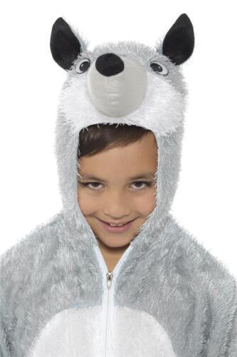 KIDS WOLF COSTUME WILD ANIMAL GIRLS BOYS WORLD BOOK DAY WEEK FANCY DRESS OUTFIT