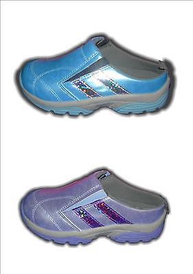Chicas formadores Verano Slip On Backless Lila / Azul tamaños disponibles en 10-2 r+n